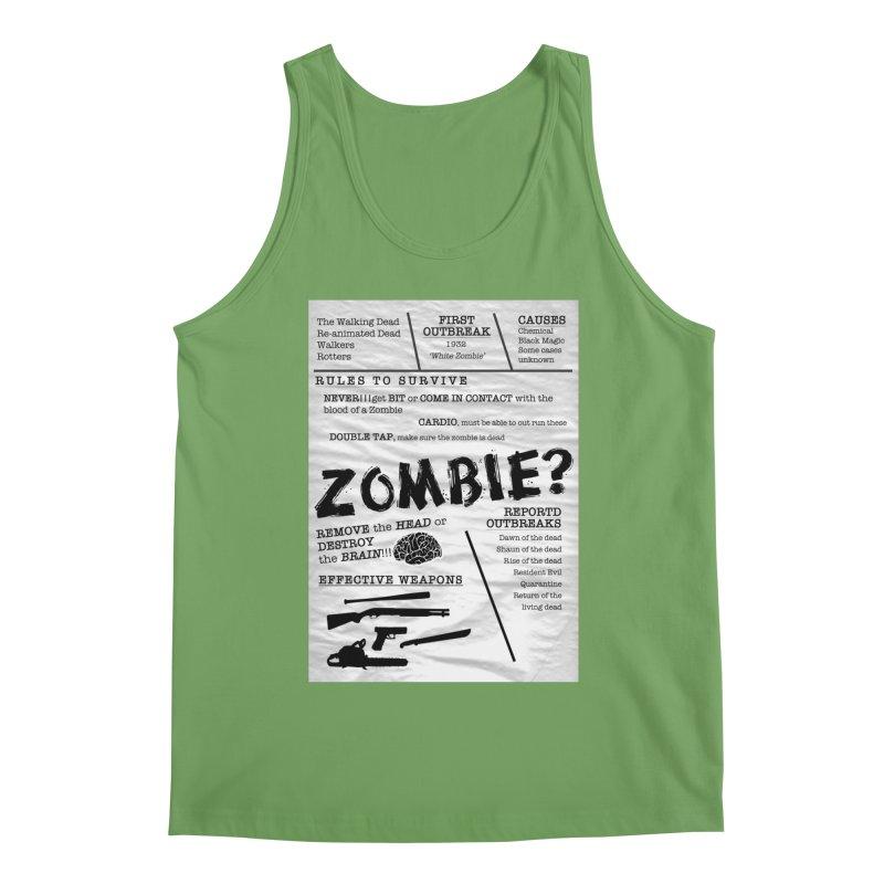 Zombie? Men's Tank by Mrc's Artist Shop