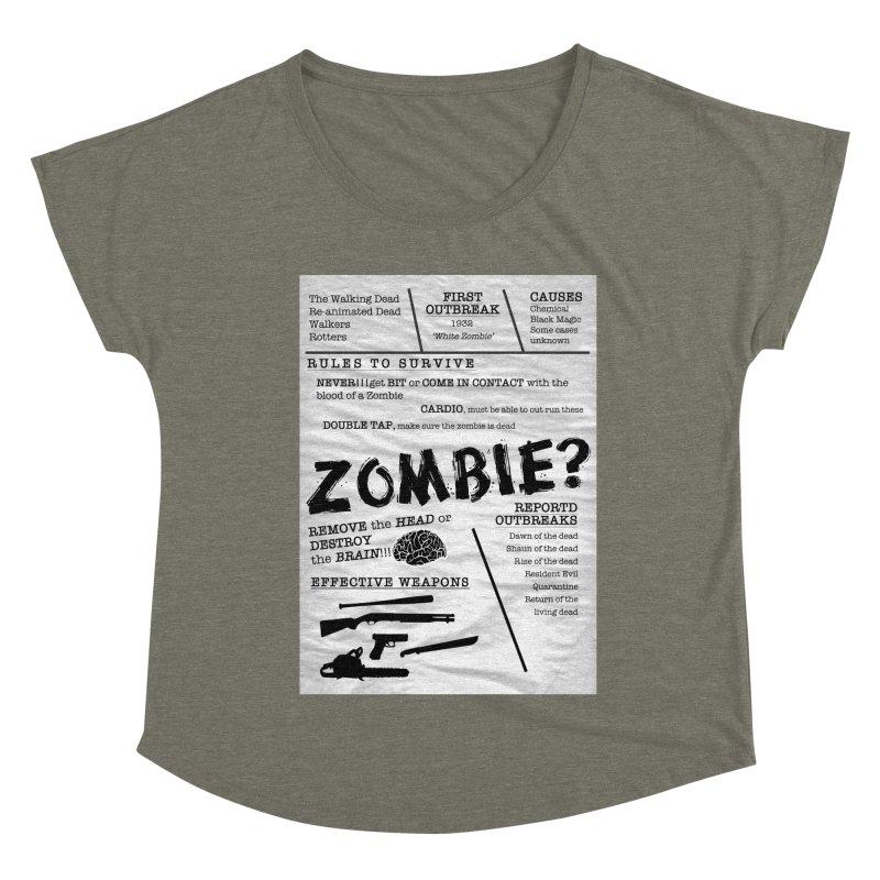 Zombie? Women's Dolman Scoop Neck by Mrc's Artist Shop