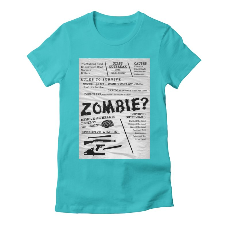 Zombie? Women's Fitted T-Shirt by Mrc's Artist Shop