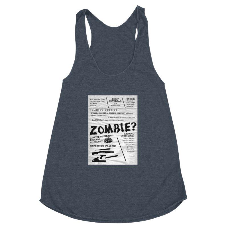 Zombie? Women's Racerback Triblend Tank by Mrc's Artist Shop