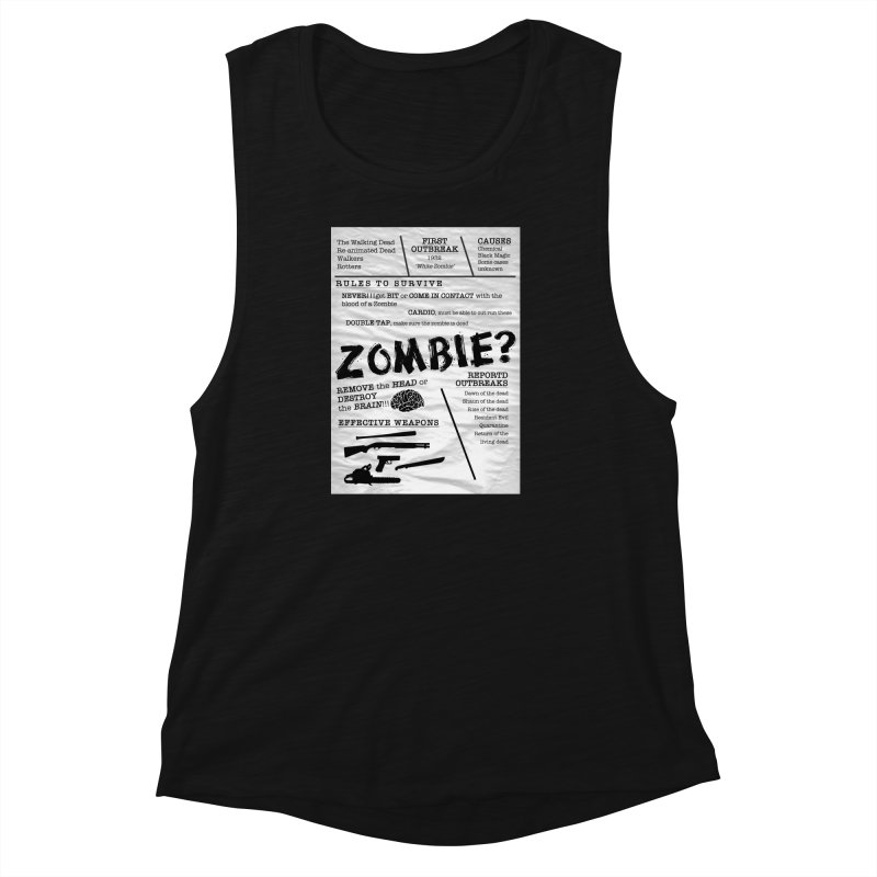 Zombie? Women's Muscle Tank by Mrc's Artist Shop
