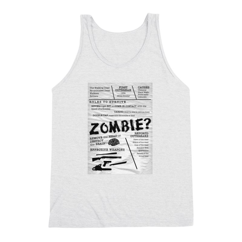 Zombie? Men's Triblend Tank by Mrc's Artist Shop