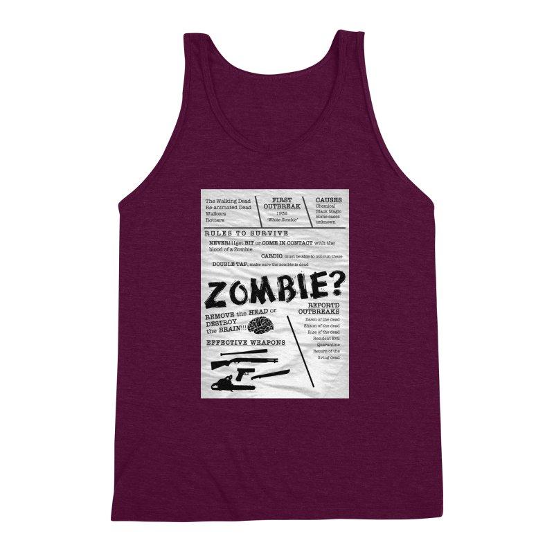 Zombie? Men's Triblend Tank by Mrc's Artist Shop