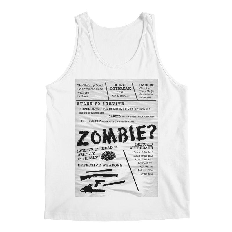 Zombie? Men's Regular Tank by Mrc's Artist Shop