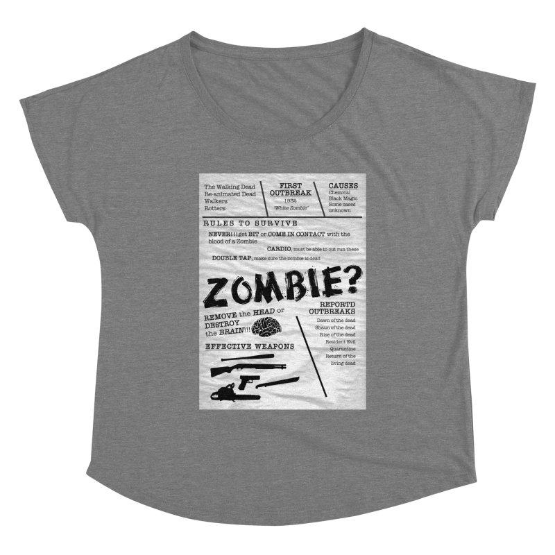 Zombie? Women's Scoop Neck by Mrc's Artist Shop
