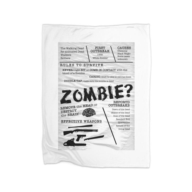 Zombie? Home Blanket by Mrc's Artist Shop