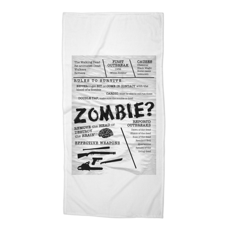 Zombie? Accessories Beach Towel by Mrc's Artist Shop