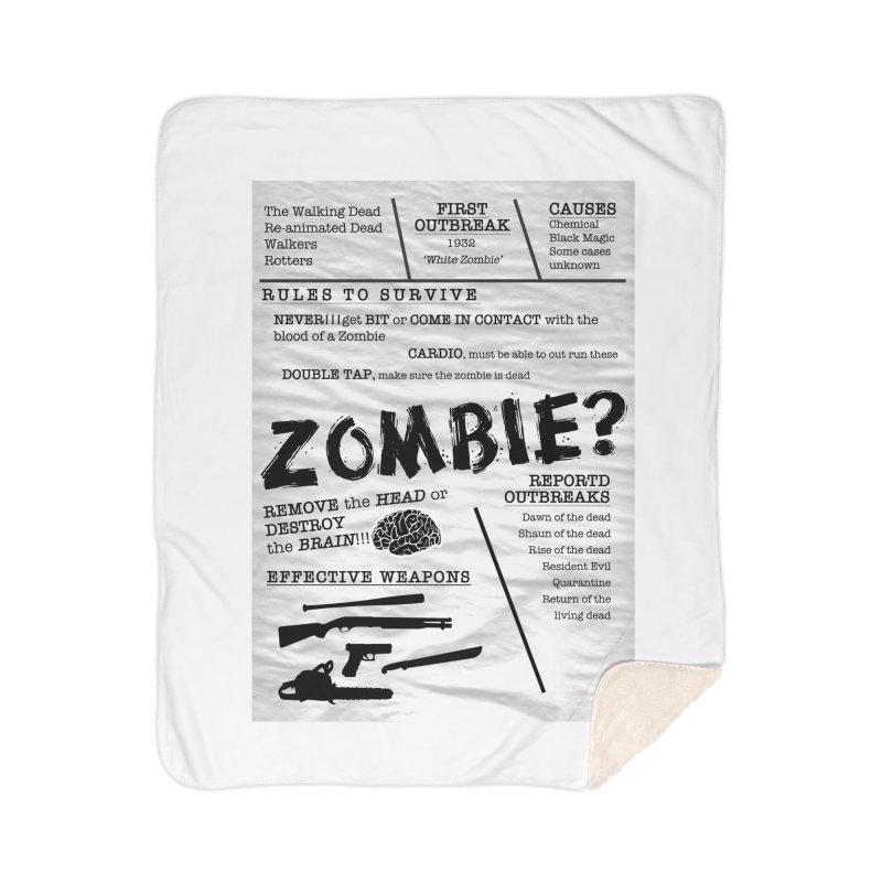 Zombie? Home Sherpa Blanket Blanket by Mrc's Artist Shop