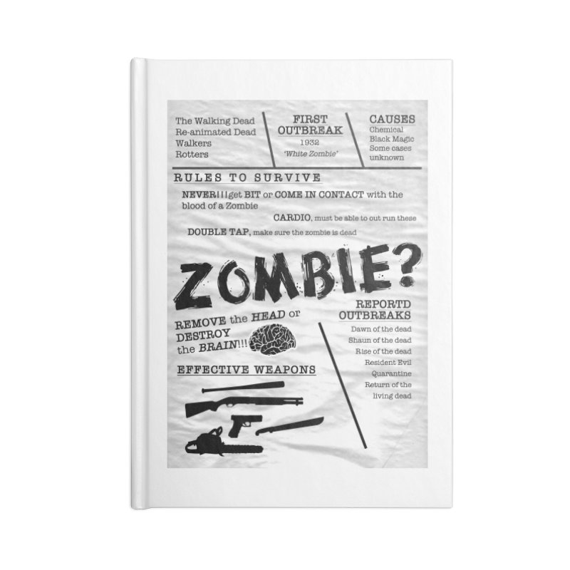 Zombie? Accessories Lined Journal Notebook by Mrc's Artist Shop