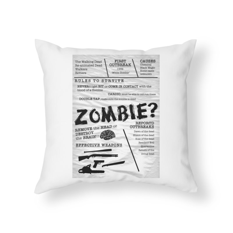 Zombie? Home Throw Pillow by Mrc's Artist Shop