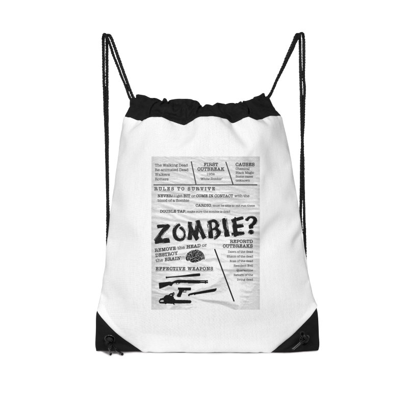 Zombie? Accessories Drawstring Bag Bag by Mrc's Artist Shop