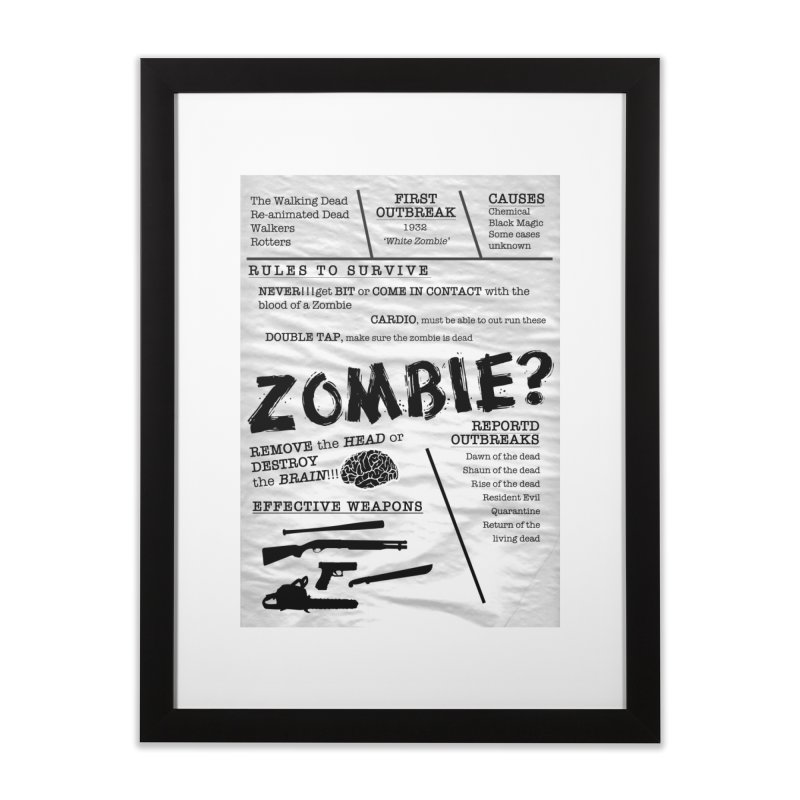 Zombie? in Framed Fine Art Print Black by Mrc's Artist Shop