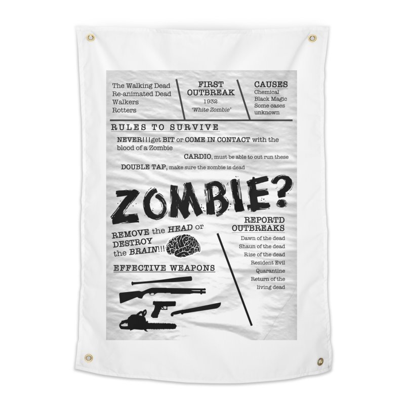 Zombie? Home Tapestry by Mrc's Artist Shop