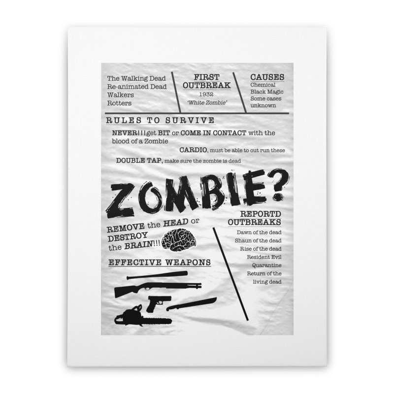 Zombie? Home Stretched Canvas by Mrc's Artist Shop