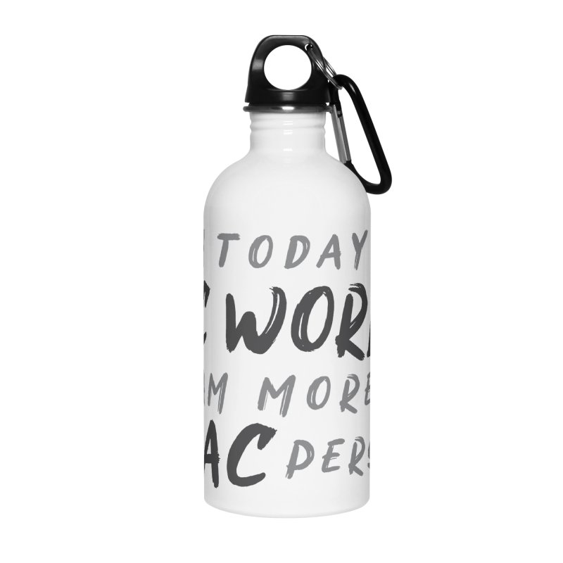 In today's PC World I am more a MAC Person Accessories Water Bottle by Mrc's Artist Shop