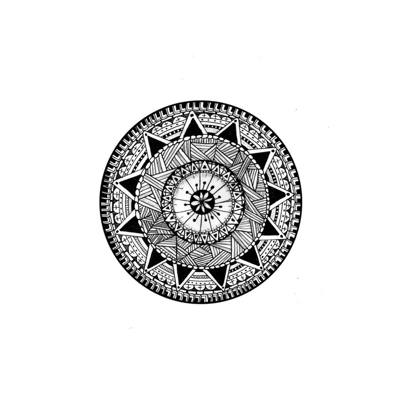 Hand Drawn Mandala Men's Longsleeve T-Shirt by Mrc's Artist Shop