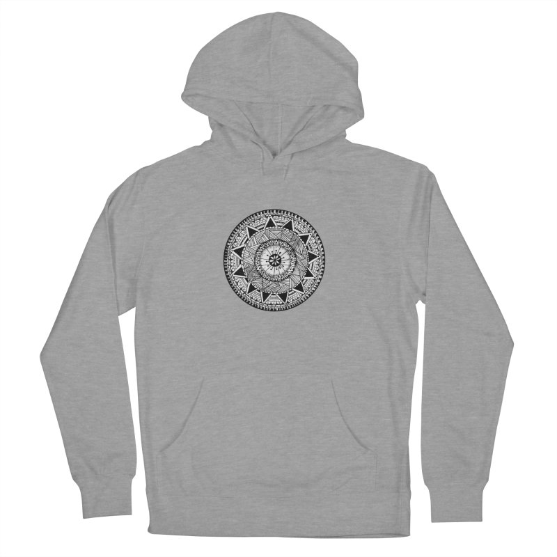 Hand Drawn Mandala Women's French Terry Pullover Hoody by Mrc's Artist Shop