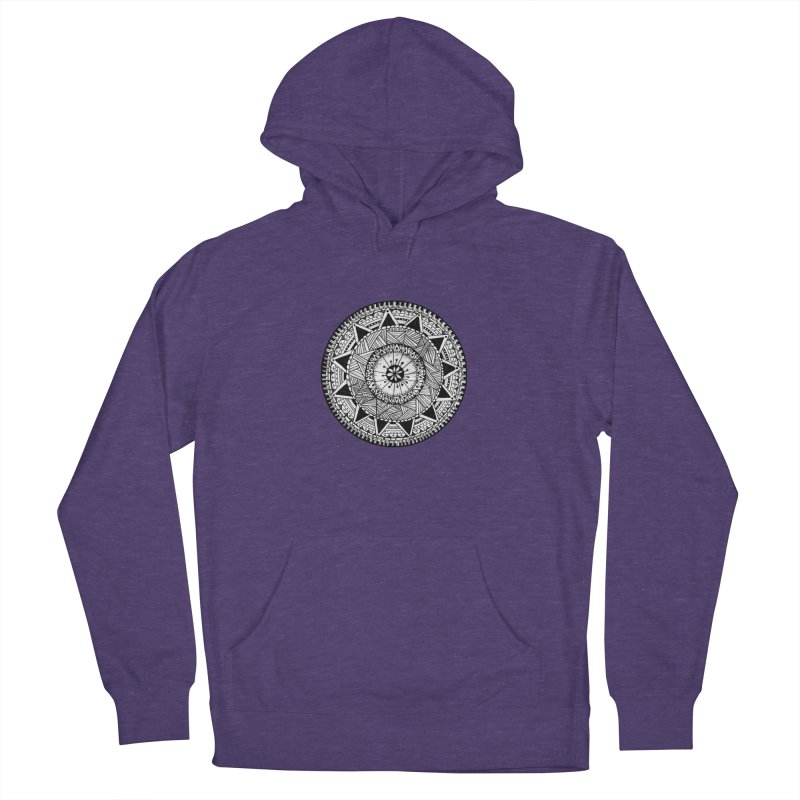 Hand Drawn Mandala Men's French Terry Pullover Hoody by Mrc's Artist Shop