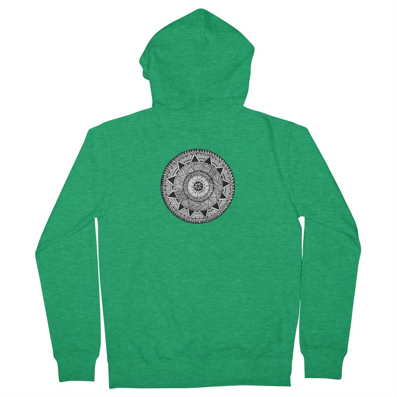 Hand Drawn Mandala Women's French Terry Zip-Up Hoody by Mrc's Artist Shop