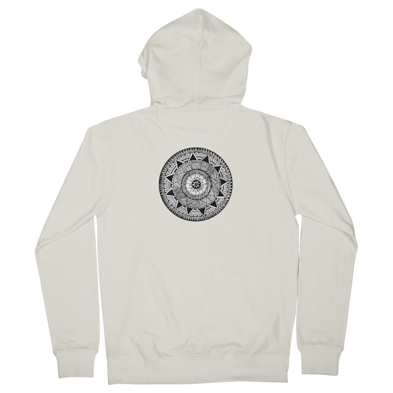 Hand Drawn Mandala Women's Zip-Up Hoody by Mrc's Artist Shop