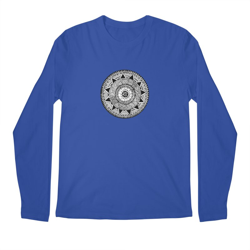 Hand Drawn Mandala Men's Longsleeve T-Shirt by Mrc's Artist Shop