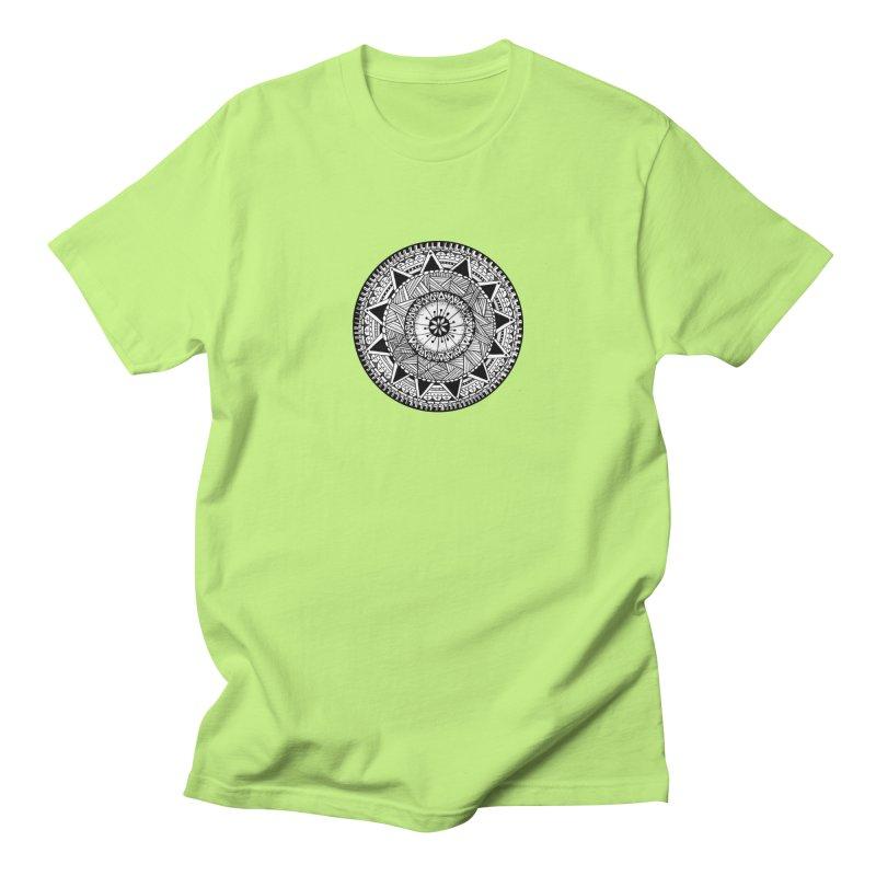 Hand Drawn Mandala Men's T-shirt by Mrc's Artist Shop