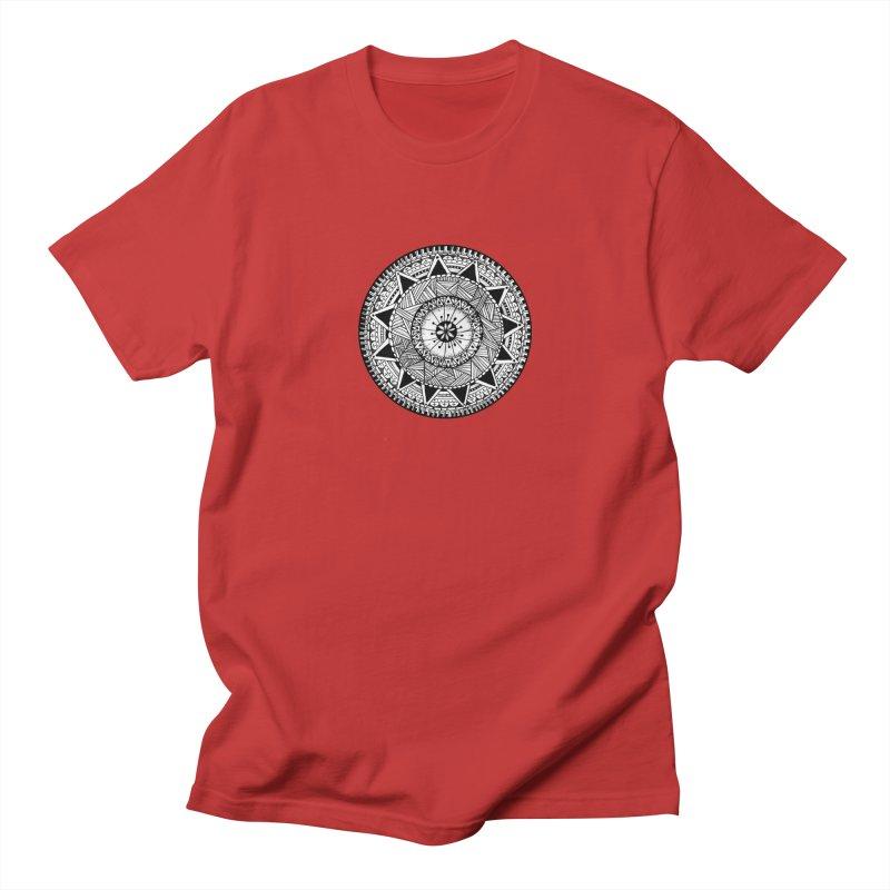 Hand Drawn Mandala Men's Regular T-Shirt by Mrc's Artist Shop