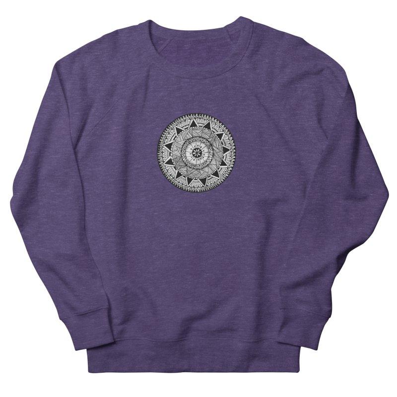 Hand Drawn Mandala Men's French Terry Sweatshirt by Mrc's Artist Shop