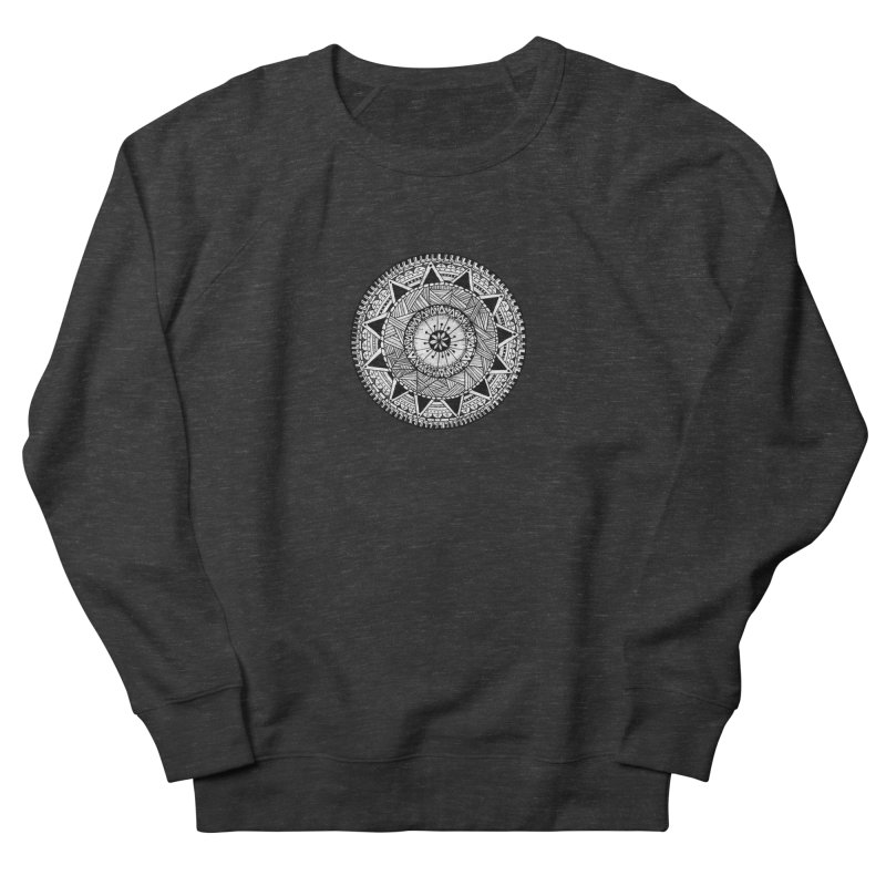 Hand Drawn Mandala Men's French Terry Sweatshirt by Mrc's Artist Shop