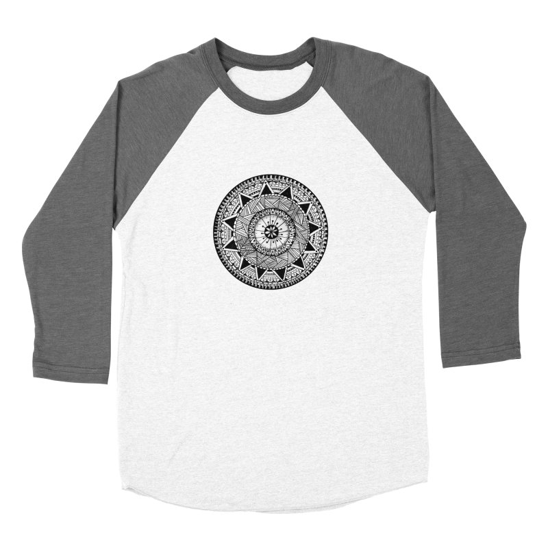Hand Drawn Mandala Women's Baseball Triblend Longsleeve T-Shirt by Mrc's Artist Shop