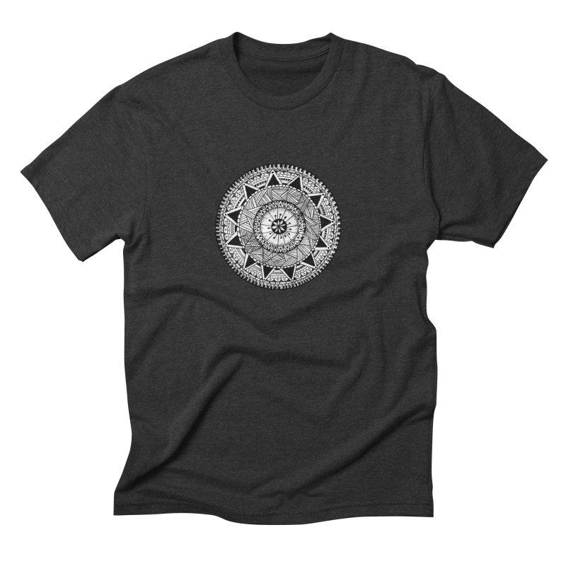 Hand Drawn Mandala Men's Triblend T-shirt by Mrc's Artist Shop
