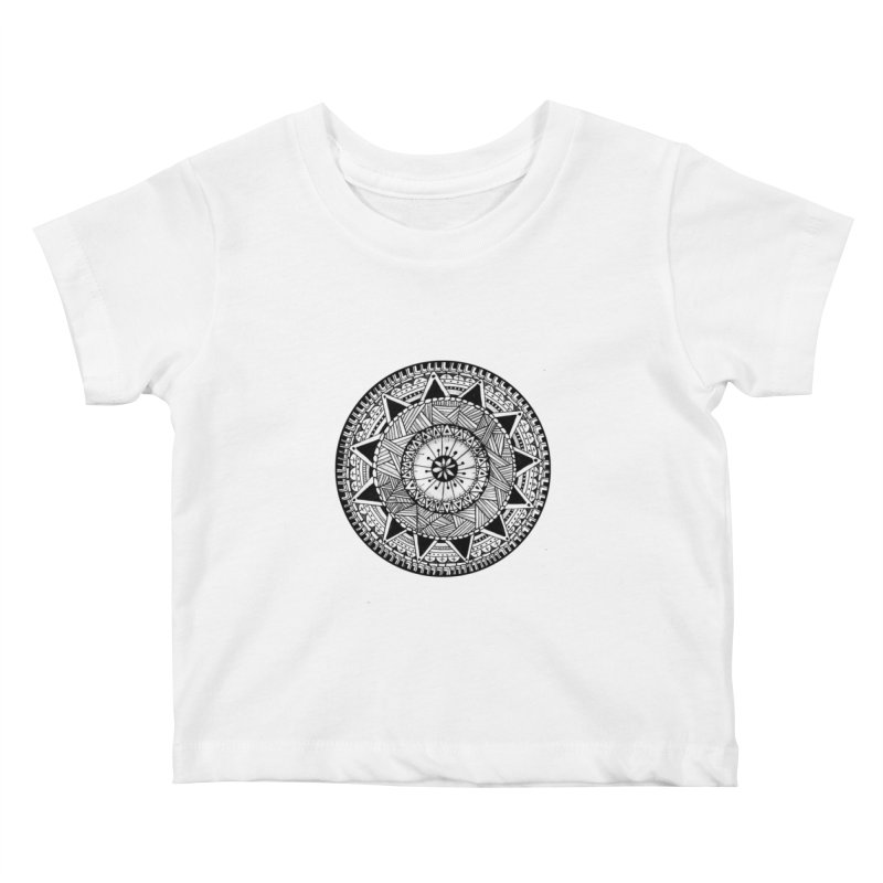 Hand Drawn Mandala Kids Baby T-Shirt by Mrc's Artist Shop