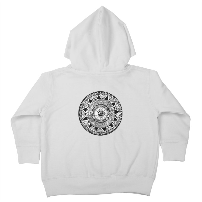 Hand Drawn Mandala Kids Toddler Zip-Up Hoody by Mrc's Artist Shop