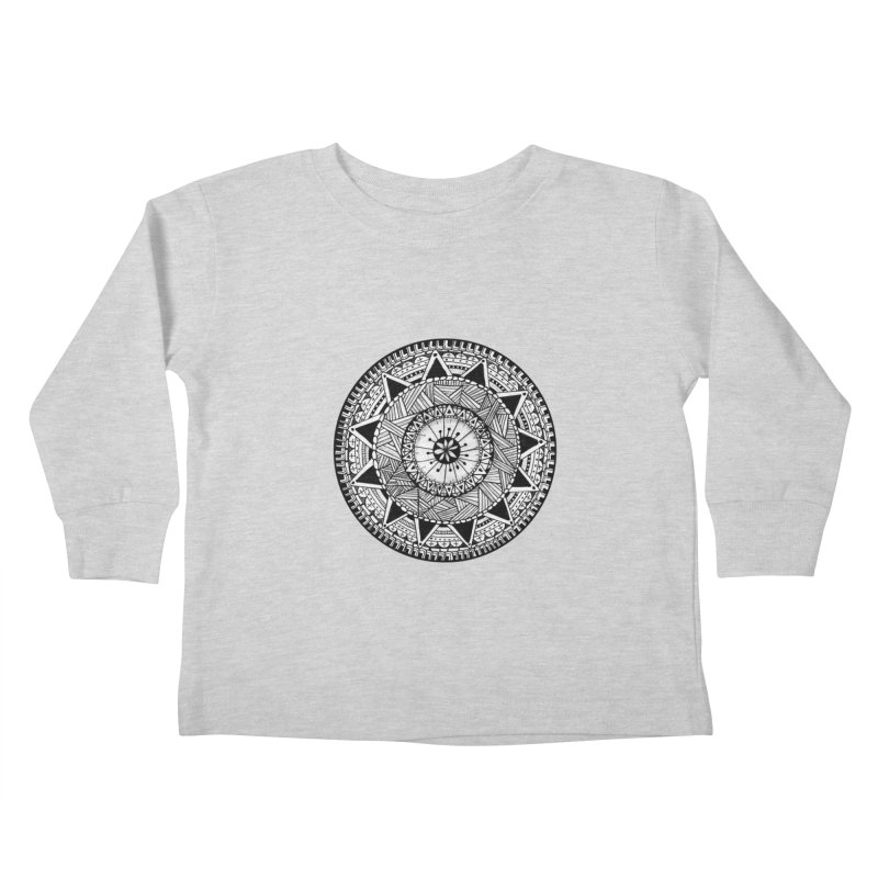 Hand Drawn Mandala Kids Toddler Longsleeve T-Shirt by Mrc's Artist Shop