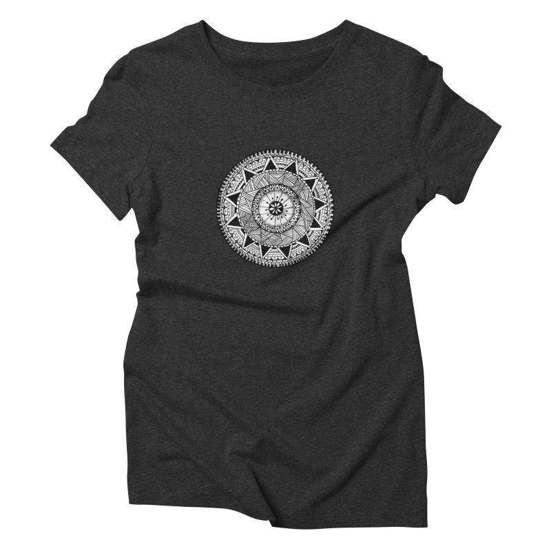 Hand Drawn Mandala Women's Triblend T-Shirt by Mrc's Artist Shop