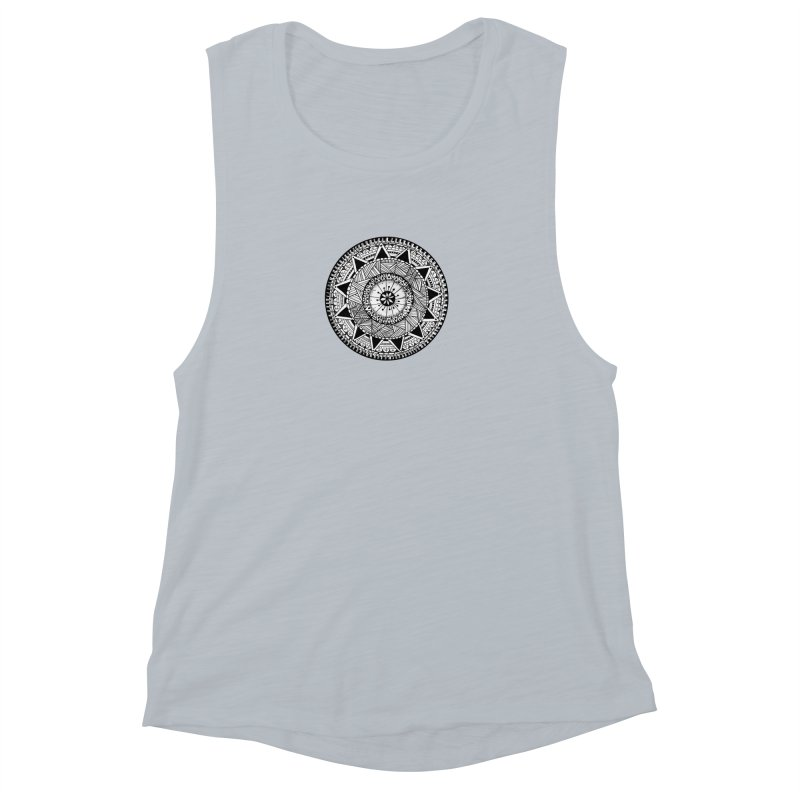 Hand Drawn Mandala Women's Muscle Tank by Mrc's Artist Shop