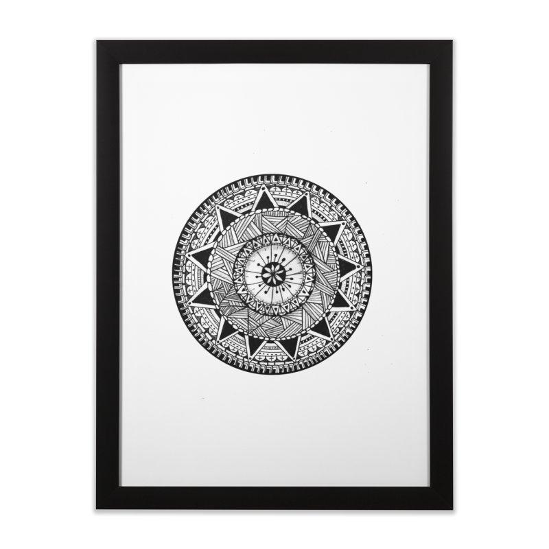 Hand Drawn Mandala Home Framed Fine Art Print by Mrc's Artist Shop