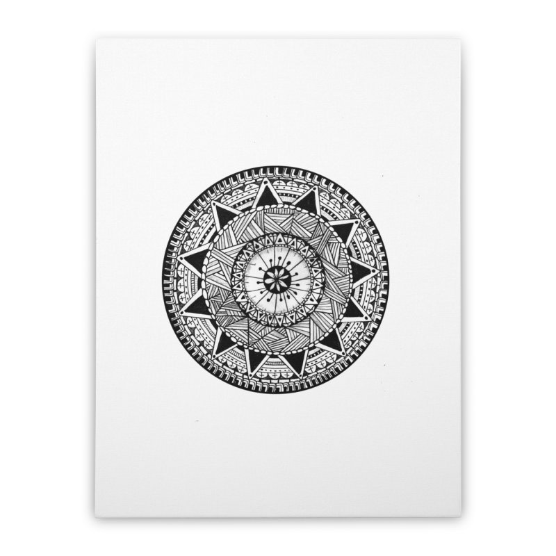 Hand Drawn Mandala Home Stretched Canvas by Mrc's Artist Shop