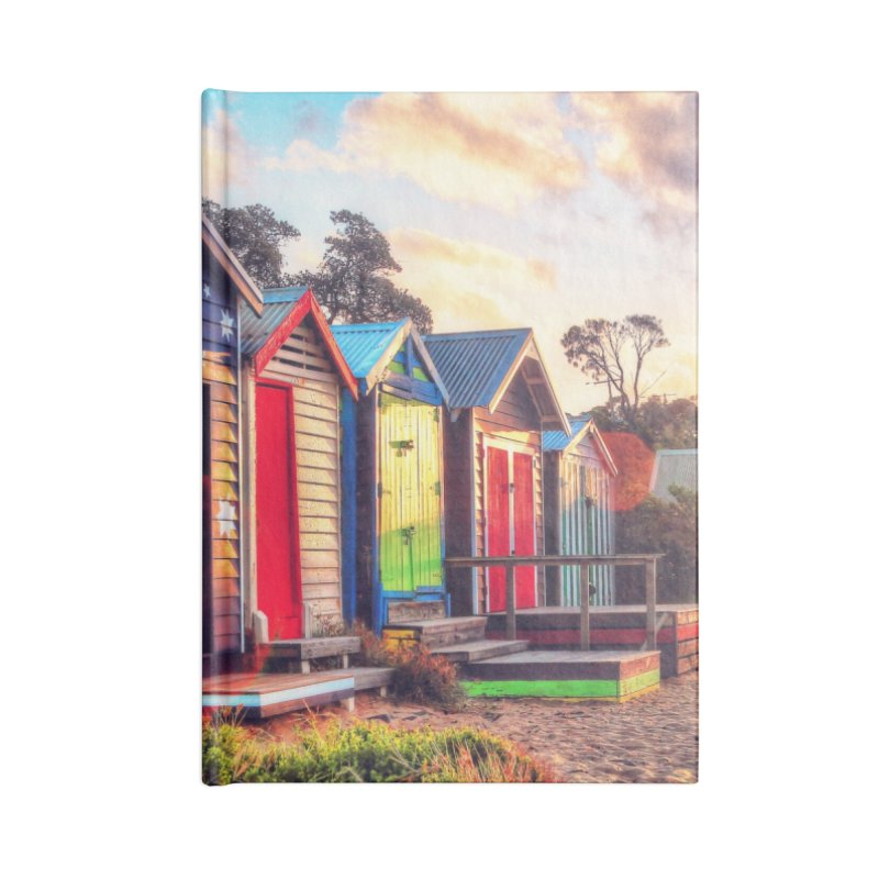 Beach Sunset Landscape Accessories Lined Journal Notebook by Mrc's Artist Shop
