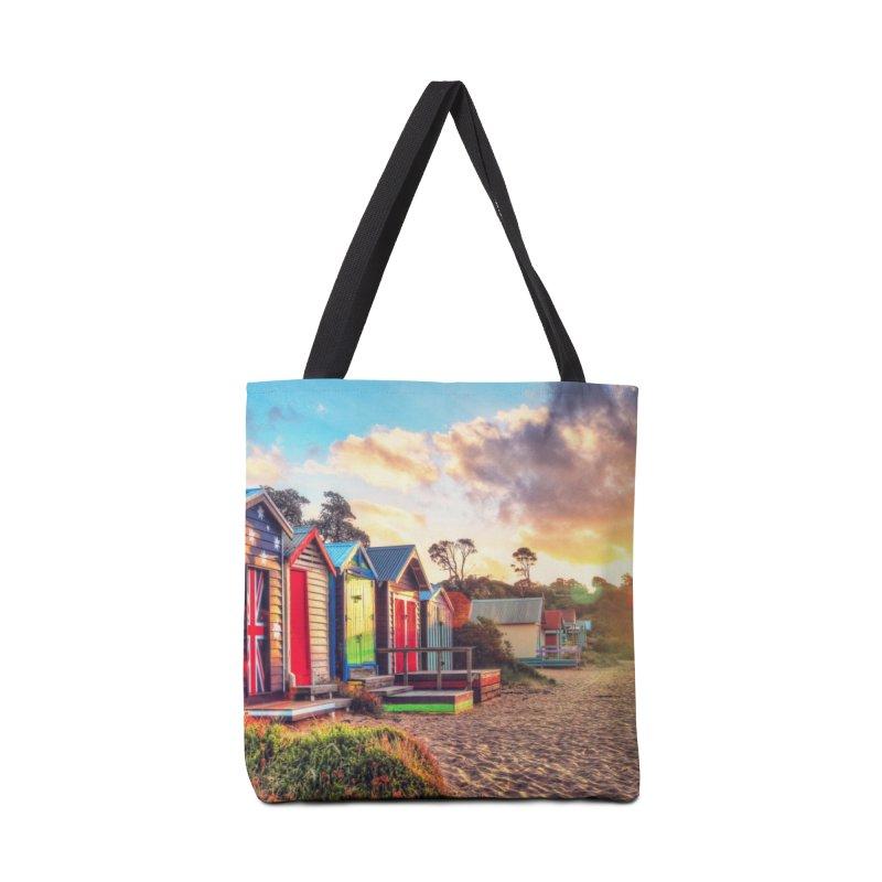 Beach Sunset Landscape Accessories Tote Bag Bag by Mrc's Artist Shop