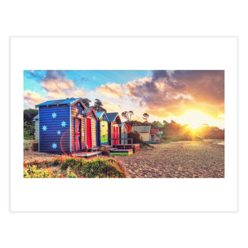 Beach Sunset Landscape Home  by Mrc's Artist Shop