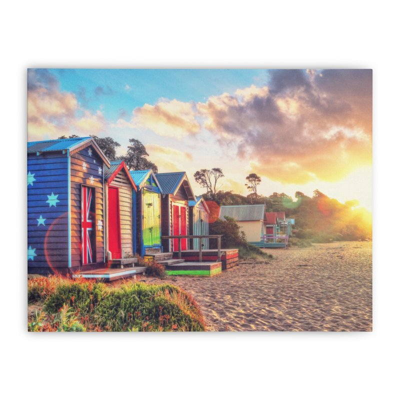 Beach Sunset Landscape Home Stretched Canvas by Mrc's Artist Shop