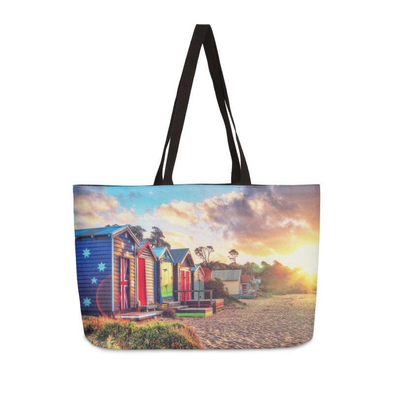 Beach Sunset Landscape Accessories Weekender Bag Bag by Mrc's Artist Shop