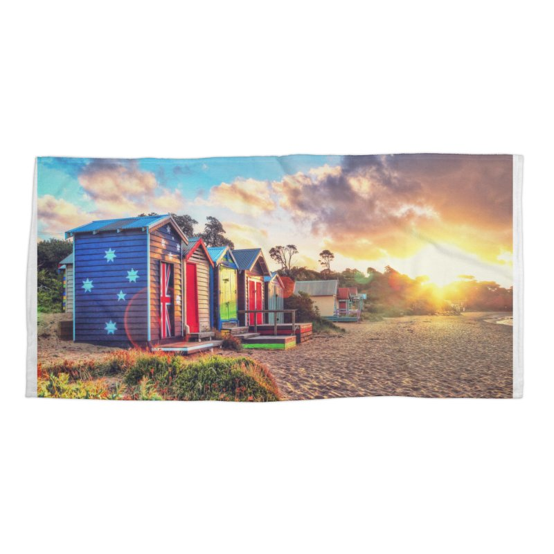 Beach Sunset Landscape Accessories Beach Towel by Mrc's Artist Shop