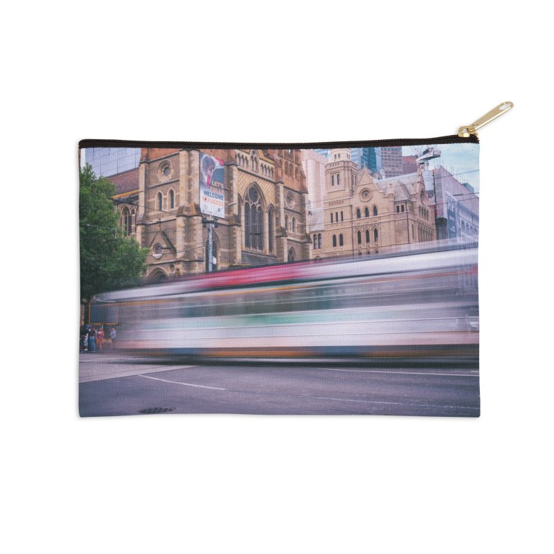 Trams in Melbourne Accessories Zip Pouch by Mrc's Artist Shop
