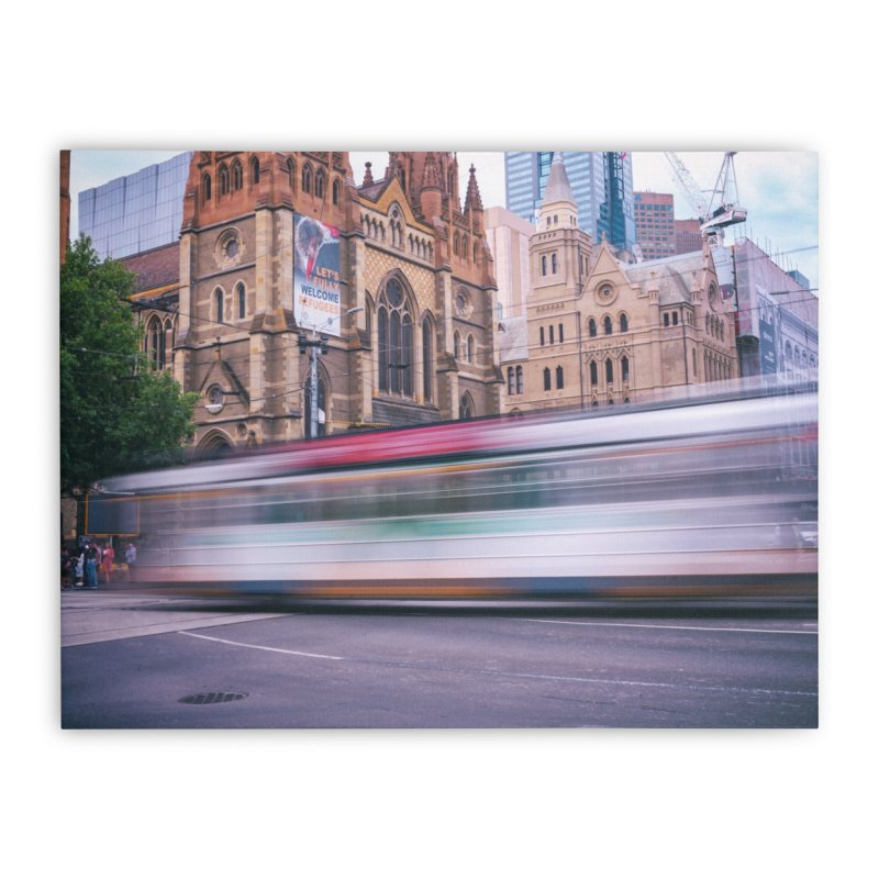 Trams in Melbourne Home Stretched Canvas by Mrc's Artist Shop