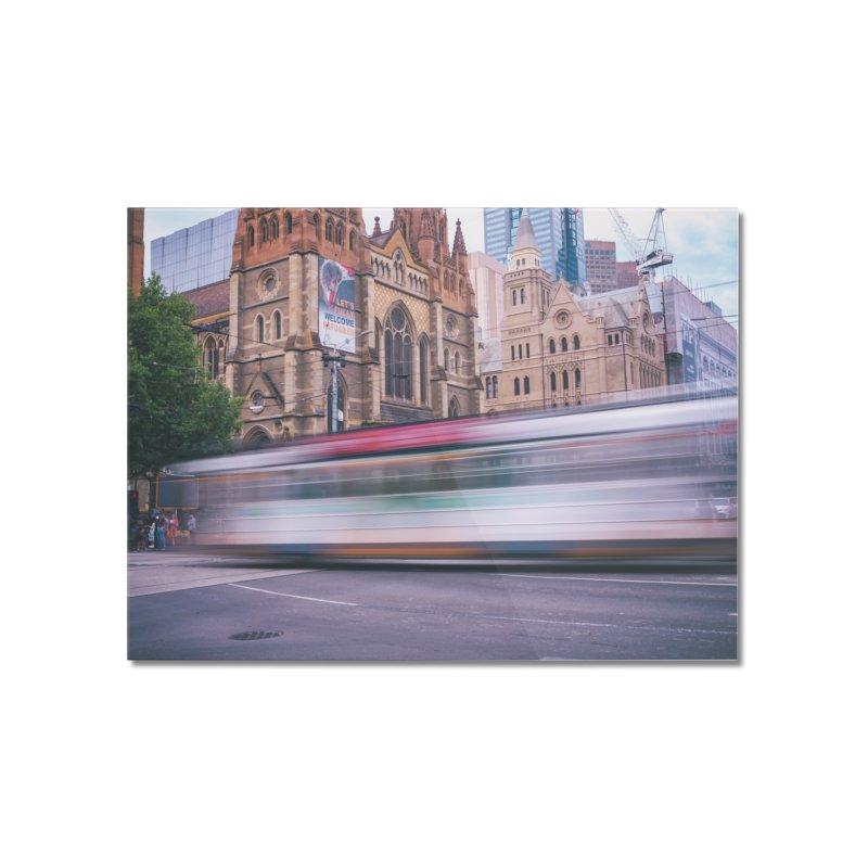 Trams in Melbourne Home Mounted Acrylic Print by Mrc's Artist Shop
