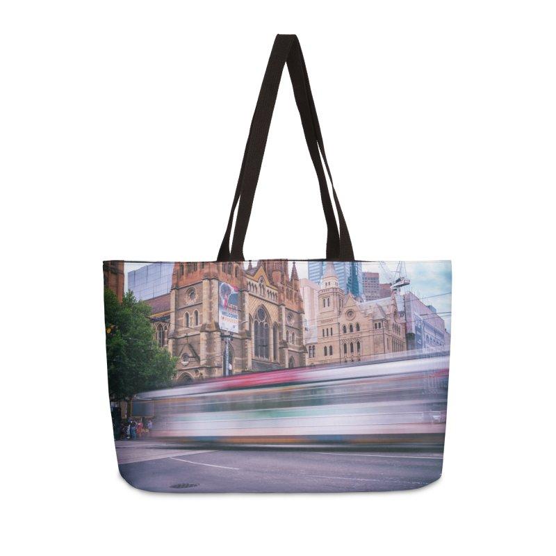 Trams in Melbourne Accessories Weekender Bag Bag by Mrc's Artist Shop