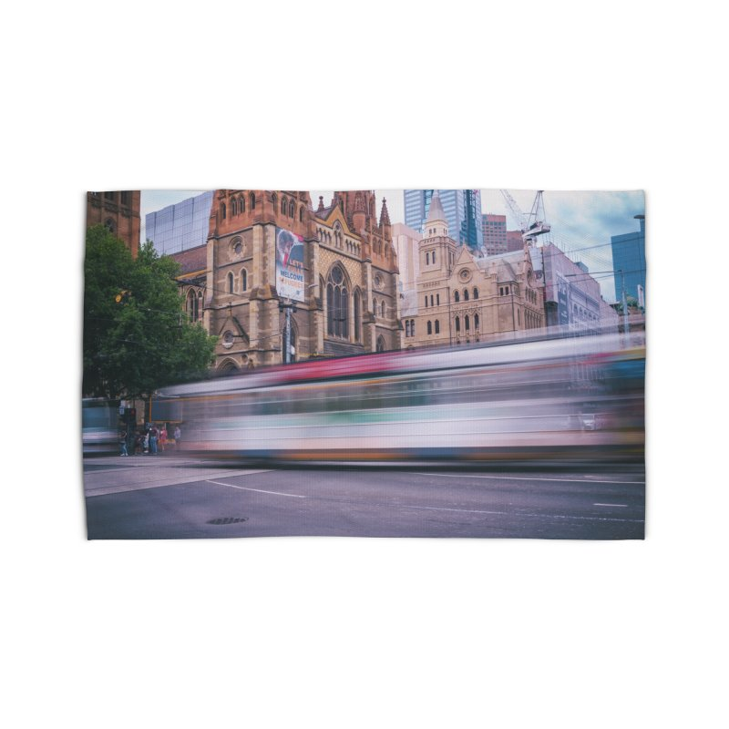 Trams in Melbourne Home Rug by Mrc's Artist Shop