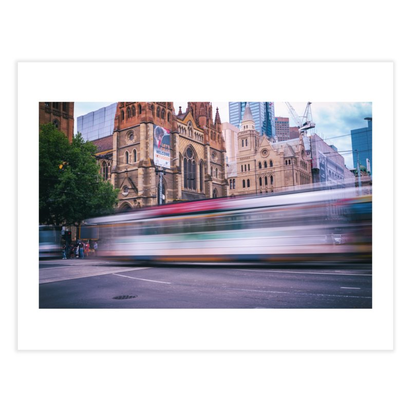 Trams in Melbourne Home Fine Art Print by Mrc's Artist Shop